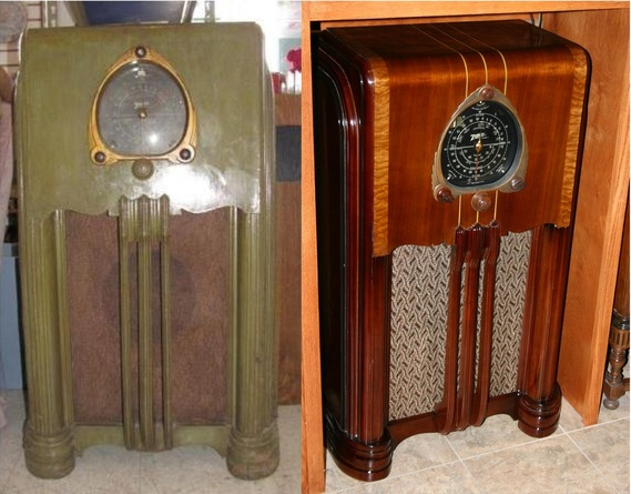 Before Amp After Russ Old Radios